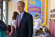 08 OCTOBER 2010 - PHOENIX, AZ:  Terry Goddard (CQ) walks through his campaign headquarters in downtown Phoenix Friday, Oct. 8 before a press conference. Goddard lost the election to sitting Governor Jan Brewer, a conservative Republican.     PHOTO BY JACK KURTZ