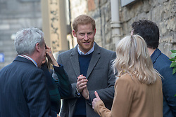 Harry and Meghan's arriving for their visit to Social Bite in Edinburgh.