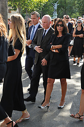 Nathalie Rykiel attending the funeral ceremony of French designer Sonia Rykiel at the Montparnasse cemetery in Paris, France on September 1, 2016. The 86 years old pioneer of Parisian womenswear from the late 1960's onwards, has died from a Parkinson's disease-related illness. Photo by Alban Wyters/ABACAPRESS.COM