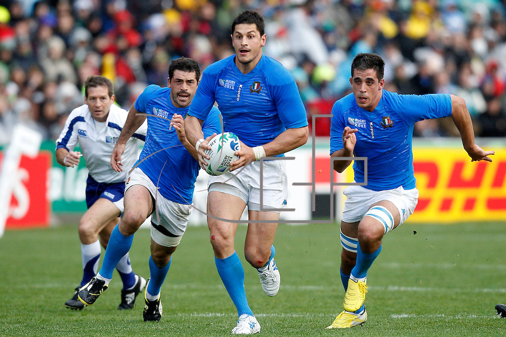 Auckland 11/09/2011 North Harbour Stadium <br /> Rugby World Cup : Australia vs Italy<br /> Alessandro Zanni