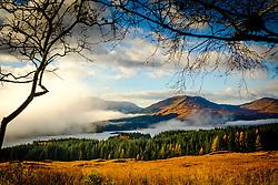 Looking towards Loch Tulla on a misty autumn morning, Highlands of Scotland<br /> <br /> (c) Andrew Wilson | Edinburgh Elite media