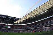 a General view of the action at Wembley Stadium during the Premier league match, Tottenham Hotspur v Burnley at Wembley Stadium in London on Sunday 27th August 2017.<br /> pic by Steffan Bowen, Andrew Orchard sports photography.