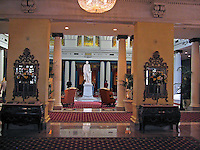 Statue, Thomas Jefferson, Lobby, Jefferson Hotel, Richmond, Virginia, USA, 200705200347.<br /> <br /> Copyright Image from Victor Patterson, Belfast, UK<br /> <br /> t: +44 28 9066 1296 (from Rep of Ireland 048 9066 1296)<br /> m: +44 7802 353836<br /> e: victorpattersonbelfast@gmail.com<br /> <br /> www.images4media.com<br /> <br /> Please see my full Terms and Conditions of Use at https://www.images4media.com/p/terms-conditions - it is IMPORTANT that you familiarise yourself with them.<br /> <br /> Images used online incur an additional cost. This cost should be agreed in writing in advance. Online images must be visibly watermarked i.e. © Victor Patterson or that of the named photographer within the body of the image. The original metadata must not be deleted from images used online.<br /> <br /> This image is only available for the use of the download recipient i.e. television station, newspaper, magazine, book publisher, etc, and must not be passed on to a third party. It is also downloaded on condition that each and every usage is notified within 7 days to victorpattersonbelfast@gmail.com.<br /> <br /> The right of Victor Patterson (or the named photographer) to be identified as the author is asserted in accordance with The Copyright Designs And Patents Act (1988). All moral rights are asserted.