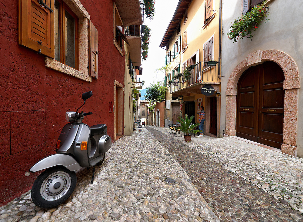 Italy - Malcesine - Street with scooter