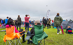 Pictured: Scotland's National Airshow, East Fortune, East Lothian, Scotland, United Kingdom, 27 July 2019 . A packed programme of aircraft old and new planned to take to the skies for the aerial display was marred by poor weather at airfields around the country which meant that many of the promised flights were unable to perform.<br /> Sally Anderson | EdinburghElitemedia.co.uk