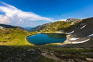 Lakes located on a high latitude in Rila Mountain