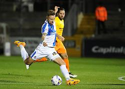 Matty Taylor of Bristol Rovers gets a shot away - Mandatory byline: Neil Brookman/JMP - 07966 386802 - 06/10/2015 - FOOTBALL - Memorial Stadium - Bristol, England - Bristol Rovers v Wycombe Wanderers - JPT Trophy