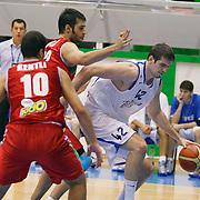 Anadolu Efes's Stanko BARAC (R) during their Turkey Cup Qualifying basketball second match Anadolu Efes between Pinar Karsiyaka at Aliaga Arena in Izmir, Turkey, Monday, October 10, 2011. Photo by TURKPIX