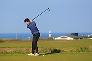 Rory Williamson (Holywood) on the 1st tee during Round 4 of The West of Ireland Open Championship in Co. Sligo Golf Club, Rosses Point, Sligo on Sunday 7th April 2019.<br /> Picture:  Thos Caffrey / www.golffile.ie