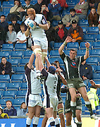 2005 European Challenge Cup Final Sale Sharks v Pau, ENGLAND, 21.05.2005, Sale's lat sub Christian Day, collects the line out ball unchallended<br /> Photo  Peter Spurrier. <br /> email images@intersport-images