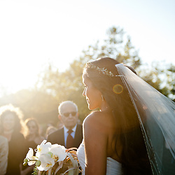 The wedding of Sydney Poitier and Dorian Heartsong at the Church Estate in Malibu, CA was photographed by Hannah Arista on October first, 2011.