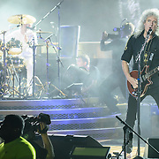 COLUMBIA, MD - July 20th, 2014 - Brian May of Queen performs at Merriweather Post Pavilion in Columbia, MD. (Photo by Kyle Gustafson / For The Washington Post)