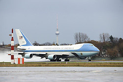 November 18, 2016 - Berlin, Germany - The Air Force One with US President Barack Obama gets ready to take off at Tegel airport in Berlin, Germany on November 18, 2016. (Credit Image: © Emmanuele Contini/NurPhoto via ZUMA Press)