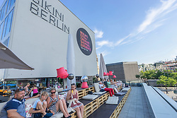 Rooftop bar at Bikini Berlin new shopping centre in Berlin Germany