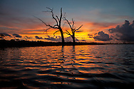 Bayou Pointe au Chien at sunset