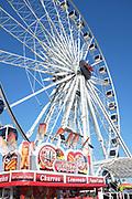 Ferris Wheel and Funnel Cake vendor at the Orange County Fair