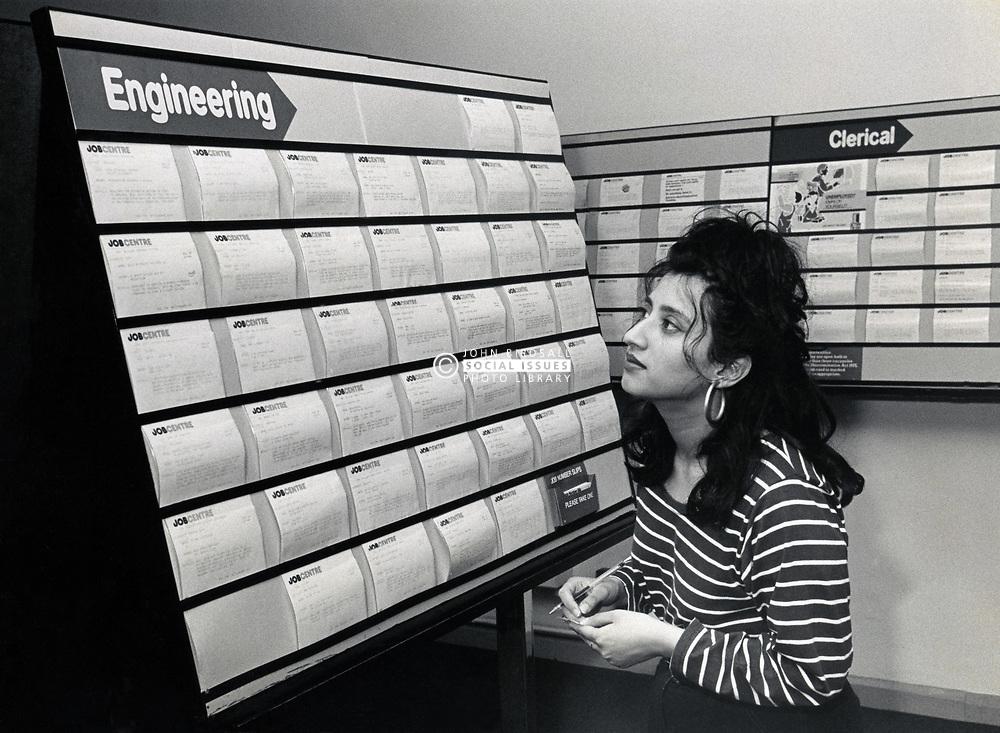 Job centre, UK 1989
