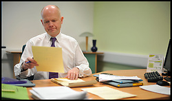 Foreign Secretary William Hague working in his Constituency office in the North East, UK, Wednesday February 17, 2010. Photo By Andrew Parsons / i-Images.