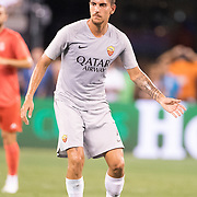 MEADOWLANDS, NEW JERSEY- August 7: Lorenzo Pellegrini 7 of AS Roma in action during the Real Madrid vs AS Roma International Champions Cup match at MetLife Stadium on August 7, 2018 in Meadowlands, New Jersey. (Photo by Tim Clayton/Corbis via Getty Images)