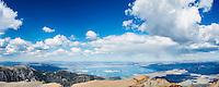 View over Mono basin from summit of Mt. Dana (13,053 ft), Yosemite national park, California, USA