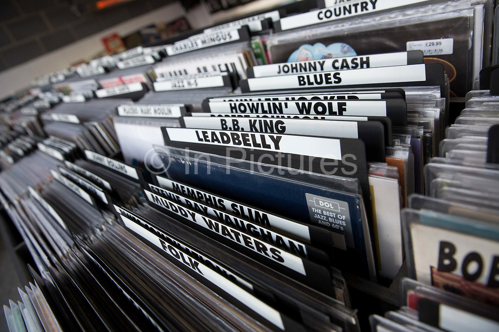Blues and country music on sale Sister Ray record shop at Ace Hotel on the 28th March 2018 in East London, United Kingdom