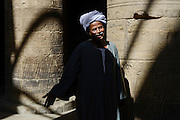 Hajj Mahmoud, starting retirement after guarding Temple of Isis since 1981, Philae Island