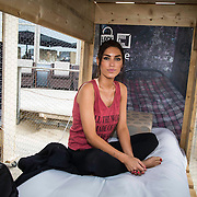 NLD/Zandvoort/20140518 - Lock me Up - Free a Girl  2014, Yolanthe Sneijder - Cabau van Kasbergen in haar hokje