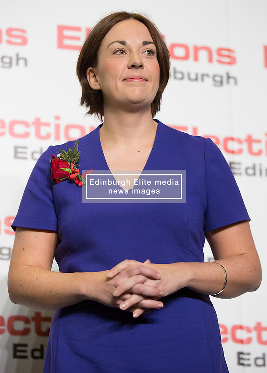 Scottish Parliament Election 2016 Royal Highland Centre Ingliston Edinburgh 05 May 2016; Kezia Dugdale (Scottish Labour Party leader) loses her seat during the Scottish Parliament Election 2016, Royal Highland Centre, Ingliston Edinburgh.<br /> <br /> (c) Chris McCluskie | Edinburgh Elite media