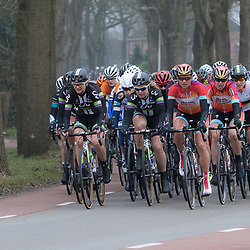 HOOGEVEEN cycling: The first manche of the UCI womens worldcup the Boels Rental ronde van Drenthe<br />Het peloton in gesloten formatie richting de VAMberg