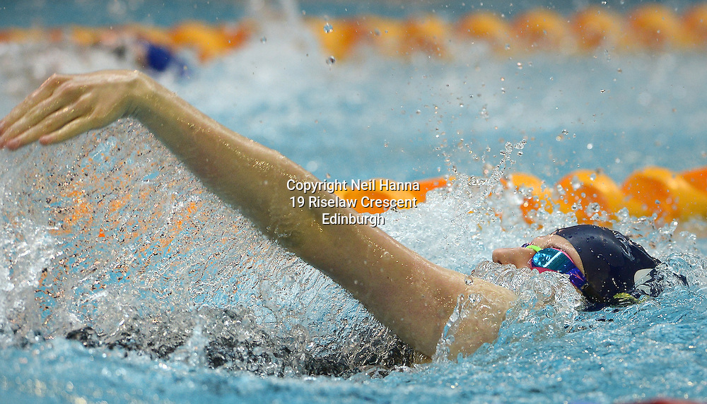 British Para-Swimming International Meet 2016, Tollcross Swimming Centre, Glasgow.<br /> <br /> Abby Kane gains the Olympic qualifying time in the 100m Backstroke.<br /> <br /> <br /> <br /> <br /> <br />  Neil Hanna Photography<br /> www.neilhannaphotography.co.uk<br /> 07702 246823