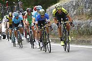 Roman Kreuziger (CZE - Mitchelton - Scott) - Johan Esteban Chaves (COL - Mitchelton - Scott) during the 101th Tour of Italy, Giro d'Italia 2018, stage 10, Penne - Gualdo Tadino 239 km on May 15, 2018 in Italy - Photo Luca Bettini / BettiniPhoto / ProSportsImages / DPPI