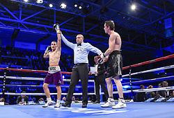 December 8, 2018 - Levallois Perret, France - Combat professionnel des poids legers Kylian Joos ( FRA - short  mauve)  vs Quentin Lanaud  (Credit Image: © Panoramic via ZUMA Press)