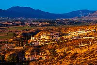 Cave houses, Galera, Granada Province, Andalusia, Spain.