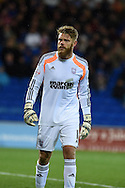 Ipswich Town  goalkeeper Dean Gerken.Skybet football league championship match, Cardiff city v Ipswich Town at the Cardiff city stadium in Cardiff, South Wales on Tuesday 21st October 2014<br /> pic by Andrew Orchard, Andrew Orchard sports photography.