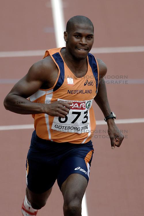 10-08-2006 ATLETIEK: EUROPEES KAMPIOENSSCHAP: GOTHENBORG <br /> Eugene Martineau op de 100 meter<br /> ©2006-WWW.FOTOHOOGENDOORN.NL