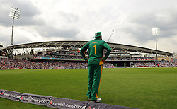 South Africa's Hashim Amla fields on the boundary at the Kia Oval