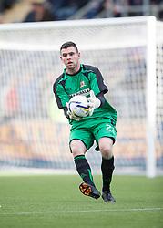 Alloa Athletic's keeper Craig McDowall.<br /> Falkirk 2 v 1 Alloa Athletic, Scottish Championship game played 4/10/2014 at The Falkirk Stadium.