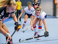 ROTTERDAM - Fabienne Roosen (SCHC) ,  dames Amsterdam-SCHC.   ,hoofdklasse competitie  zaalhockey.   COPYRIGHT  KOEN SUYK