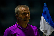 Assistant referee Darren Blunden during the EFL Sky Bet League 1 match between Gillingham and AFC Wimbledon at the MEMS Priestfield Stadium, Gillingham, England on 24 November 2020.