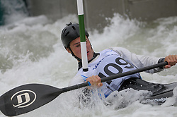 30-05-2014 FIN: EK Wildwaterkanoen K1 slalom, Wenen<br /> Marnix Teunissen (NED) in action during his qualification run in the men canoe single class (K1)<br /> <br /> *** NETHERLANDS ONLY ***