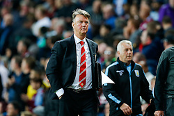 Manchester United Manager Louis van Gaal looks on at half time - Mandatory byline: Rogan Thomson/JMP - 07966 386802 - 14/08/2015 - FOOTBALL - Villa Park Stadium - Birmingham, England - Aston Villa v Manchester United - Barclays Premier League.