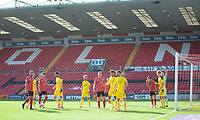 A general view of  LNER Stadium, home of Lincoln City showing the match action with no fans in the ground<br /> <br /> Photographer Andrew Vaughan/CameraSport<br /> <br /> The EFL Sky Bet League One - Saturday 12th September  2020 - Lincoln City v Oxford United - LNER Stadium - Lincoln<br /> <br /> World Copyright © 2020 CameraSport. All rights reserved. 43 Linden Ave. Countesthorpe. Leicester. England. LE8 5PG - Tel: +44 (0) 116 277 4147 - admin@camerasport.com - www.camerasport.com - Lincoln City v Oxford United