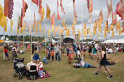 Crowd of people at the WOMAD (World of Music; Arts and Dance) Festival in reading; 2005,