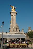France. Paris Pont Alexandre-III bridge on the Seine River / Le Pont Alexandre 3 sur la Seine