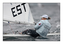 Anne-mari Luik, EST 196342.Opening races in breezy conditions for the Laser Radial World Championships, taking place at Largs, Scotland GBR. ..118 Women from 35 different nations compete in the Olympic Women's Laser Radial fleet and 104 Men from 30 different nations. .All three 2008 Women's Laser Radial Olympic Medallists are competing. .The Laser Radial World Championships take place every year. This is the first time they have been held in Scotland and are part of the initiaitve to bring key world class events to Britain in the lead up to the 2012 Olympic Games. .The Laser is the world's most popular singlehanded sailing dinghy and is sailed and raced worldwide. ..Further media information from .laserworlds@gmail.com.event press officer mobile +44 7775 671973  and +44 1475 675129 .