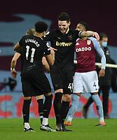 Football - 2020 / 2021 Premier League - Aston Villa vs West Ham United - Villa Park<br /> <br /> West Ham United's Declan Rice with double goal scorer Jesse Lingard.<br /> <br /> COLORSPORT/ASHLEY WESTERN