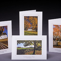 This special collection of Shaker greeting cards makes a nice gift for anyone who has a fondness for the village and also enjoys Shaker recipes.  Set includes 2 each of 4 designs, 8 cards total.<br />