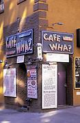 Cafe Wha?, Macdougal Street, Greenwich Village, Manhattan, New York