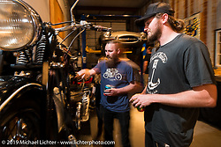 Pre-party for the Handbuilt Motorcycle Show at Revival Cycles. Austin, TX. April 9, 2015.  Photography ©2015 Michael Lichter.