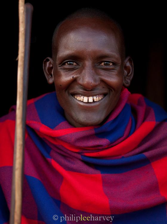 Maasai tribesman, Oytaratta village near Maasai Mara National Reserve, Kenya